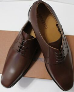 636d49b74ac Image is loading 140-BROLETTO-MRDAVID-BROWN-LEATHER-DERBY-SHOES