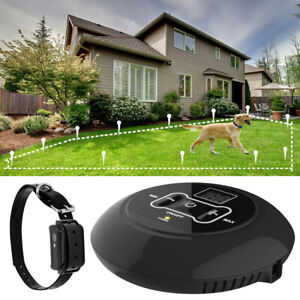 Wireless-Electric-Dog-Pet-Fence-Containment-System-Transmitter-Collar-Waterproof