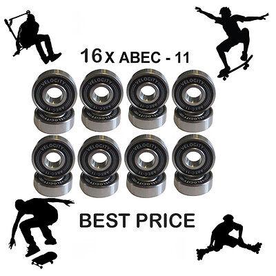 2 Abec 11 pro wheel bearings stunt scooter Skateboard Quad inline roller skate