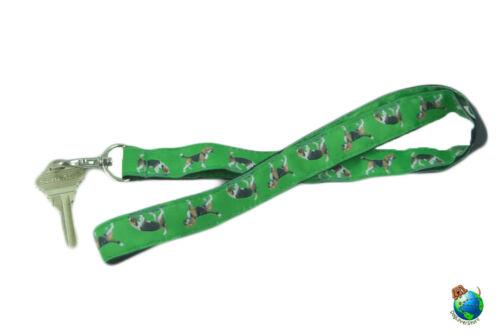 Beagle Lanyard Key /& Badge Holder