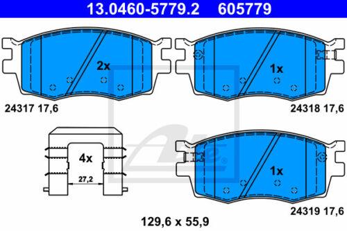 Beläge Vorderachse PB, PBT für HYUNDAI i20 ATE Bremsscheiben VA