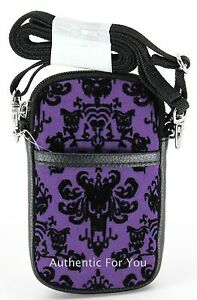 Details About Disney Haunted Mansion Purple Wallpaper Smartphone Cell Phone Case With Strap