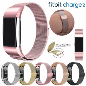 For-Fitbit-Charge-2-Strap-Replacement-Milanese-Loop-Band-Stainless-Steel-Magnet