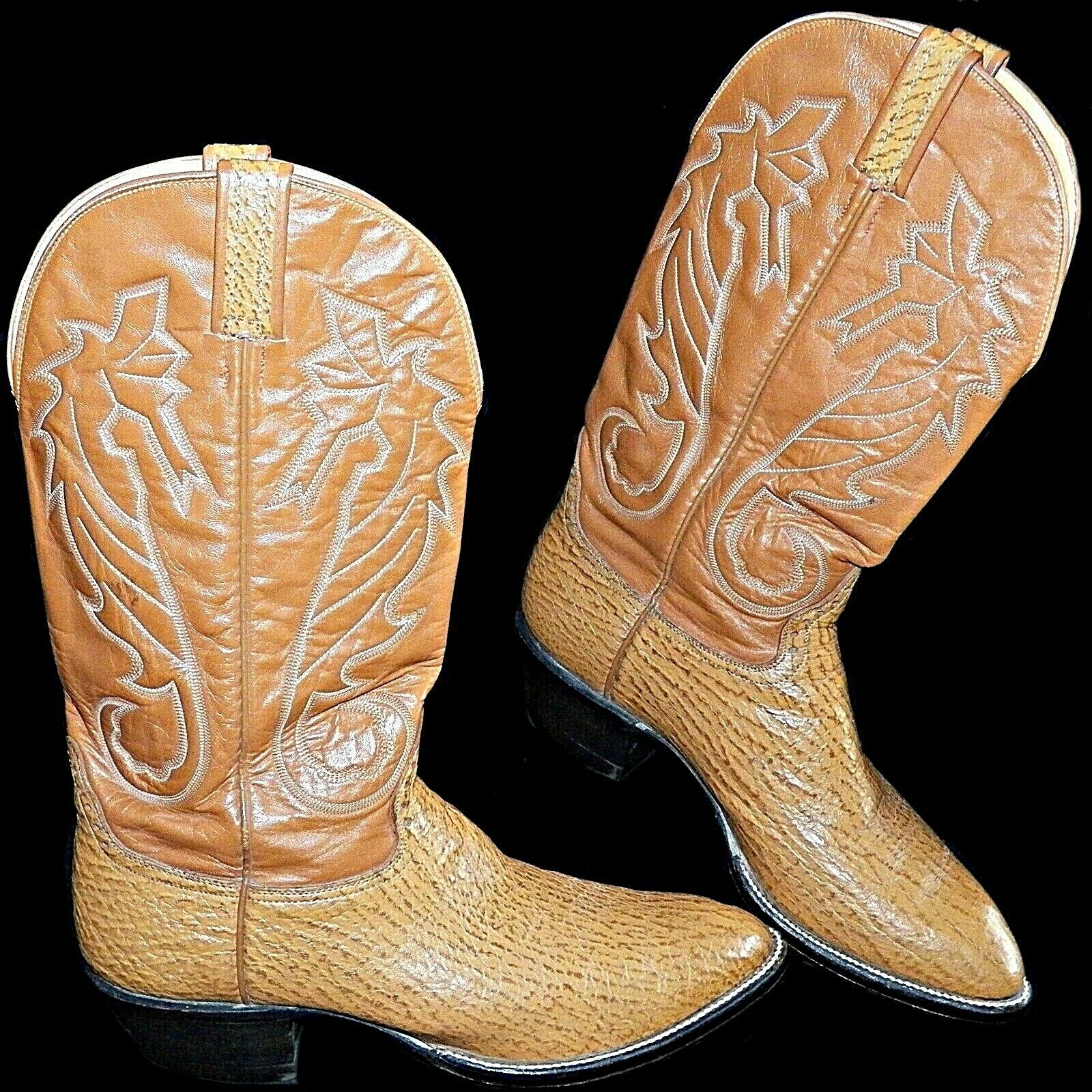 Hondo 8500 Honey Spanish Shoulder Bullhide 13 inch Tops Cowboy botas 10.5 D