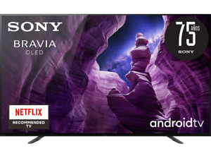 """TV OLED 65"""" - Sony KD65A8BAEP, UHD4K, X1 Ultimate, Acoustic Surface Audio,"""