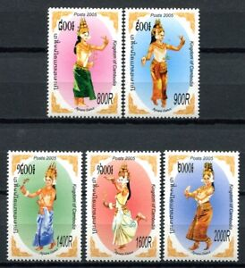 Kambodscha-Cambodia-2005-Apsara-Tanz-Dancing-Folklore-2362-2366-Postfrisch-MNH