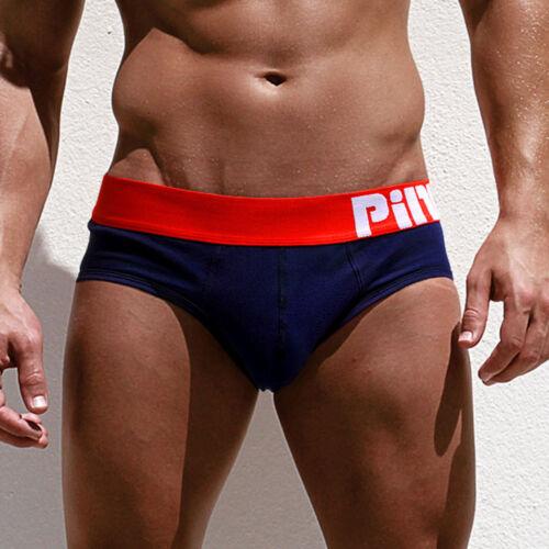 Men Boxer Briefs Breathable Shorts Cotton Underwear Bulge Pouch Underpants US