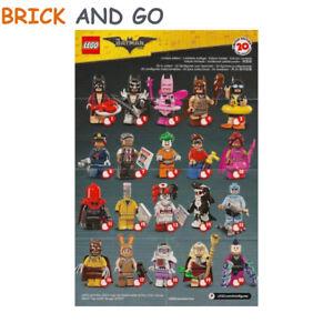 LEGO-Minifig-Figurine-Minifigure-71017-Serie-Batman-Movie-Au-Choix-NEUF-NEW