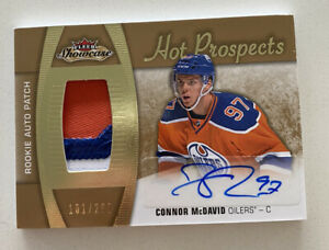 2015-16-Fleer-Showcase-Connor-McDavid-3-COLOR-Rookie-Patch-Autograph-RC-101-299