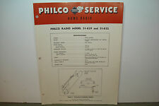 PHILCO RADIO SERVICE MANUAL MODEL 51-629 51-632