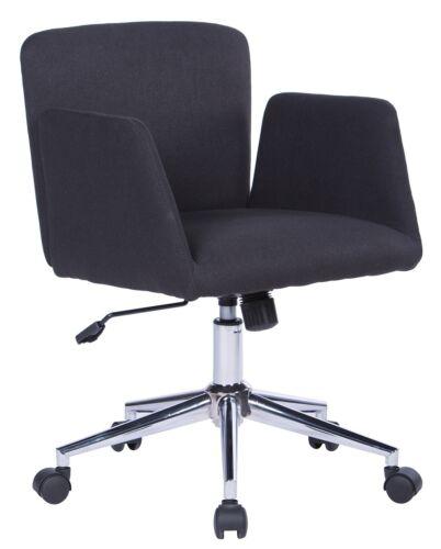 SixBros Bürostuhl Schreibtischstuhl Drehstuhl Stuhl Stoff Schwarz W-173//8183