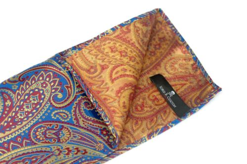 Lord R Colton Masterworks Pocket Square Carivale Blue Silk $75 Retail New