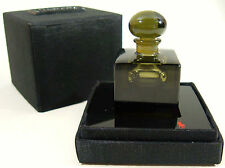 RARE Tuxedo Ralph Lauren Red Pony 1/4 oz Perfume Bottle Smokey Glass Cube Splash