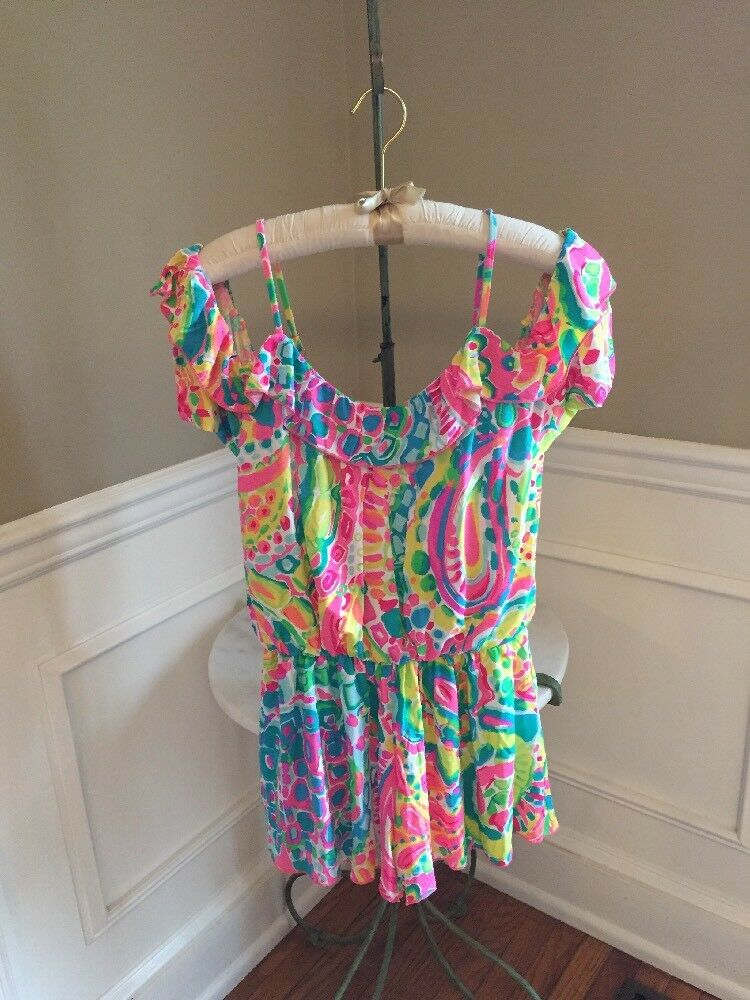 NWT Lilly Pulitzer  148 Come out of your Shell Fenella Romper Size XS