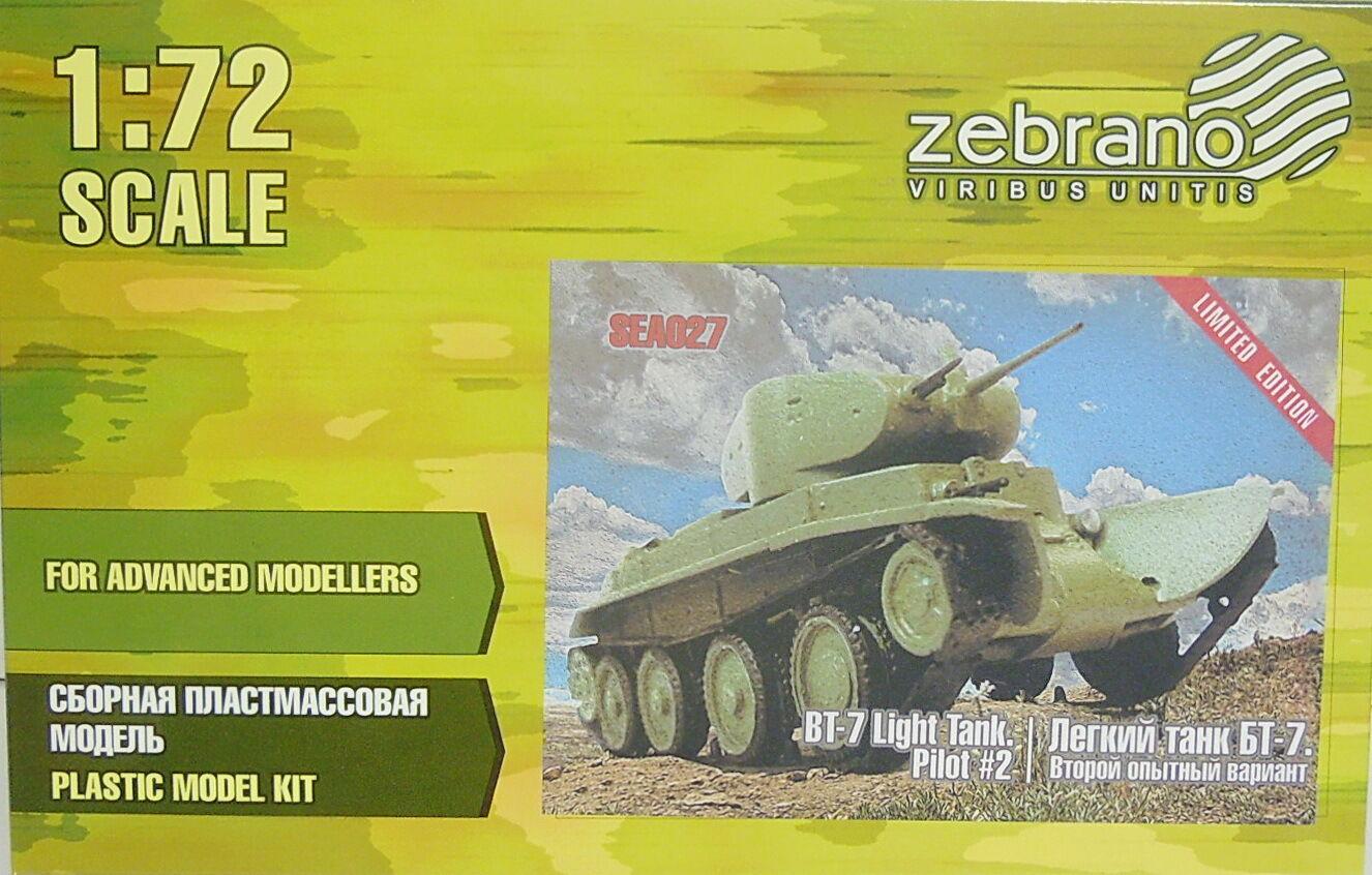 Schnellpanzer BT-7 Predotype 2, 1 72, Zebrano, Plastic, Limited, Novelty