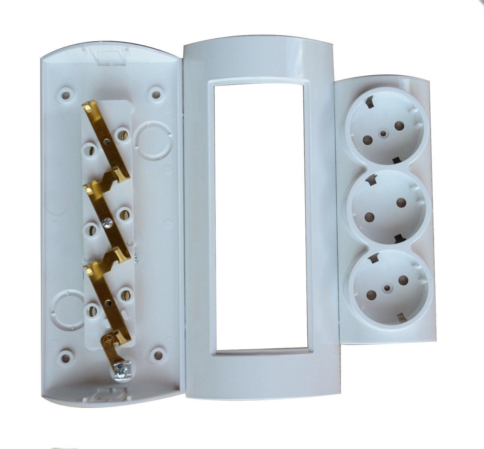 Enchufe combinado Atra 3 enchufes en un solo dispositivo