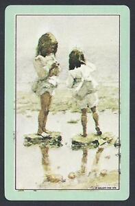 850-025-vintage-swap-card-MINT-Children-on-the-beach
