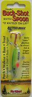 Northland Tackle Buck-shot® Rattle Spoon - 3/8 Oz. - Glow Perch