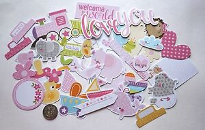 SCRAPBOOKING-NO-124-38-CARD-DIE-CUTS-BABY-GIRL-Scrapbooking-amp-Card-Making