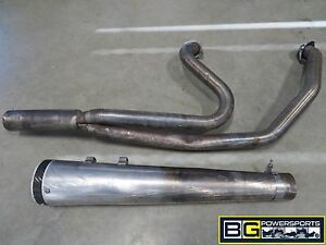 EB464-2011-HARLEY-FLTRX-ROAD-GLIDE-CUSTOM-JACKPOT-2-INTO-1-EXHAUST-DAMAGED