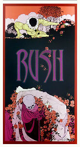 Rush-Fan-Club-Poster-Harlequin-2006-Hand-Signed-Silver-Ink-Bob-Masse-MINT