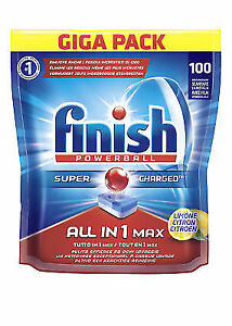 finish all-in-1 max lemon dishwasher tablets