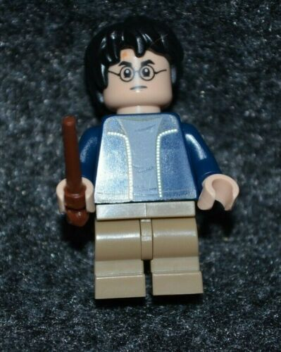 Lego ~ New! Harry in Blue Jacket light Blue shirt Harry Potter ~ Minifigure
