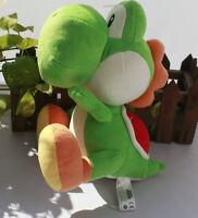 New Super Mario Bros. Green Yoshi Plush Stuffed Animal Nintendo Authentic Doll