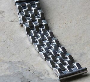 Brick-link-5-row-vintage-band-16mm-17mm-or-18mm-for-vintage-sector-dial-watch
