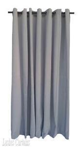 Gray 14/' Extra High Velvet Curtain Panel w//Ring Grommet Top Eyelets Window Drape
