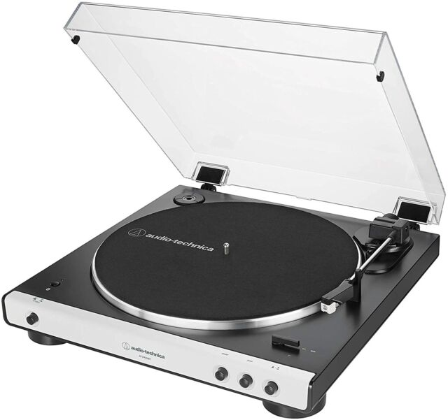 Audio Technica AT-LP60XBT-WH Bluetooth Wireless Fully Automatic Turntable