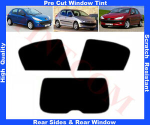 Peugeot 206 5-door 1999 PRE CUT WINDOW TINT KIT REAR 50/%