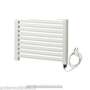 Scaldasalviette termoarredo calorifero bagno bianco elettrico ercos bagno dritto ebay - Termoarredo bagno elettrico ...