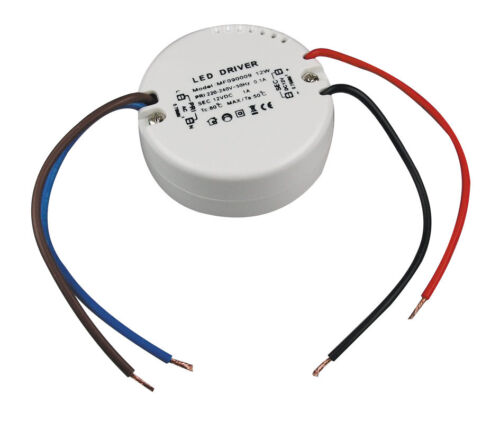 LED Trafo Treiber für 12Volt LM kompakter 12W LED Rundtrafo für Schalterdosen