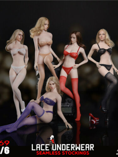 In-stock 1//6 Scale Fire Girl Toys FG069 Seamless Stocking Lace Lingerie Set