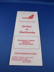 AIR-BAR-HARBOR-QUICK-CONSULTATION-SCHEDULE-AIRLINE-TIMETABLE-1979-PRINTED-FRENCH
