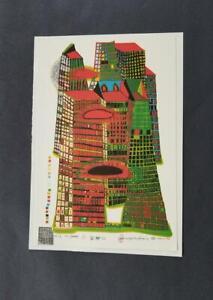 Friedensreich Hundertwasser  Good Morning City  Mounted offset Lithograph  1973
