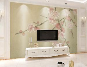 Details about  /3D Peach Blossom 6 Wallpaper Murals Wall Print Wallpaper Mural AJ WALL UK Kyra