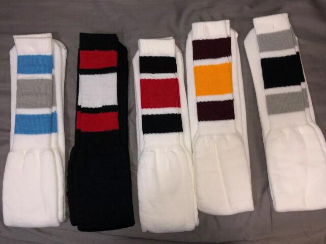 Black White and Red Skull Argyle Knee High Socks