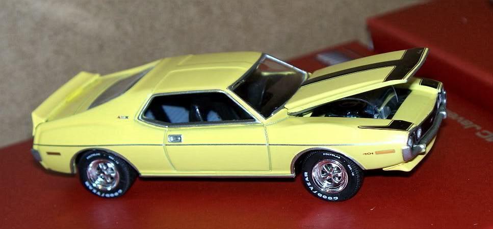 1971 AMC Javelin Amx giallo canario UTH Diecast 432 hecho