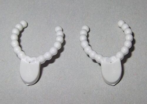 2x Halskette Armulett Collier 17705 Halsschmuck weiss