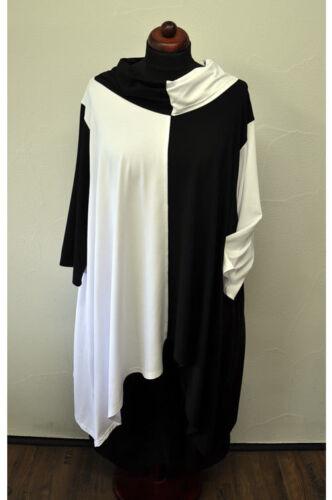 longueurs 2 Noir Lagenlook Carmen T Xxl Col Asymétrique xxxl shirt Blanc xXRaYwq
