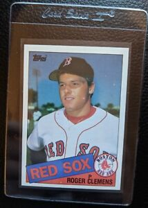 1985-TOPPS-181-ROGER-CLEMENS-ROOKIE-CARD-RC-BOSTON-RED-SOX