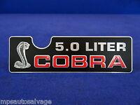 1993 Mustang Cobra Intake Plaque. Brand Reproduction
