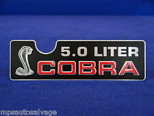 1993 MUSTANG COBRA NEW INTAKE PLAQUE. BRAND NEW REPRODUCTION
