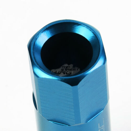 20 X M12 X 1.5 EXTENDED ALUMINUM LUG NUT+ADAPTER FOR IS25 IS350 GS460 LIGHT BLUE