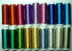 1 x 100m TW Fine Metallic Embroidery Cross Stitch Thread Made in Japan