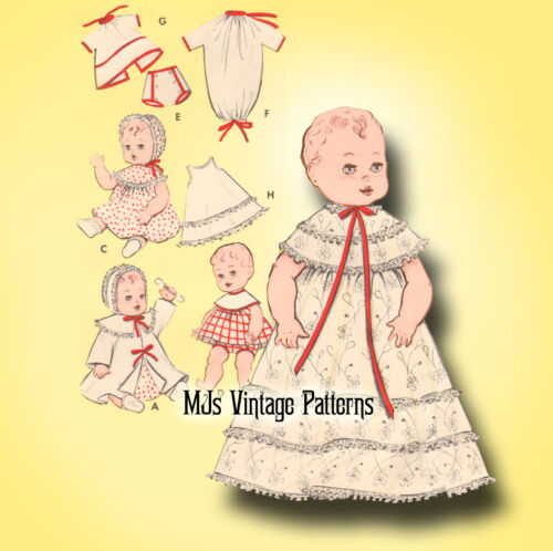 "Vintage Baby Doll Clothes Pattern ~ 13/"" 14/"" Tiny Tears Betsy Wetsy Dy Dee"