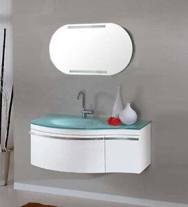 Mobili Bagno In Offerta.Mobile Da Bagno Offerta 100cm Per Arredo In Cristallo Verde Con