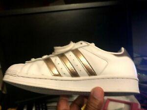Nominación Leche defensa  Adidas Originales Superstar blanco cobre metálico Oro Rosa Zapatos De Mujer  | eBay